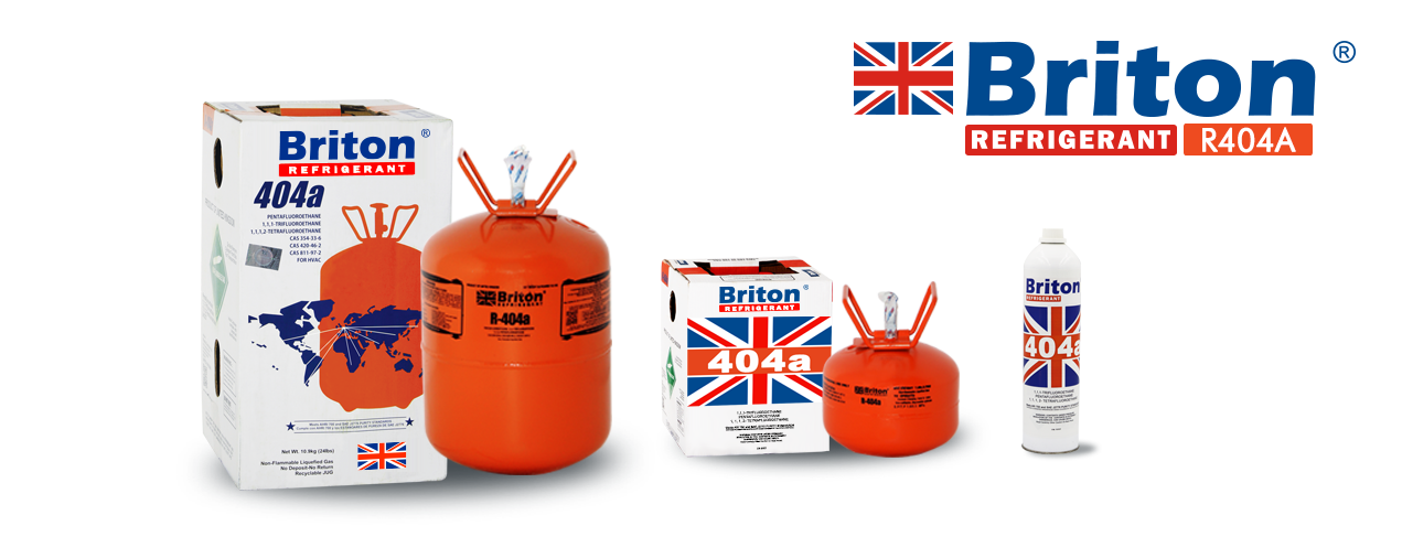 Briton R-404a Refrigerant Gas